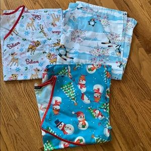 Other - Scrub tops-winter themed